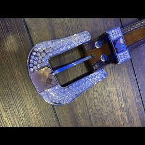 Leather XL bling belt